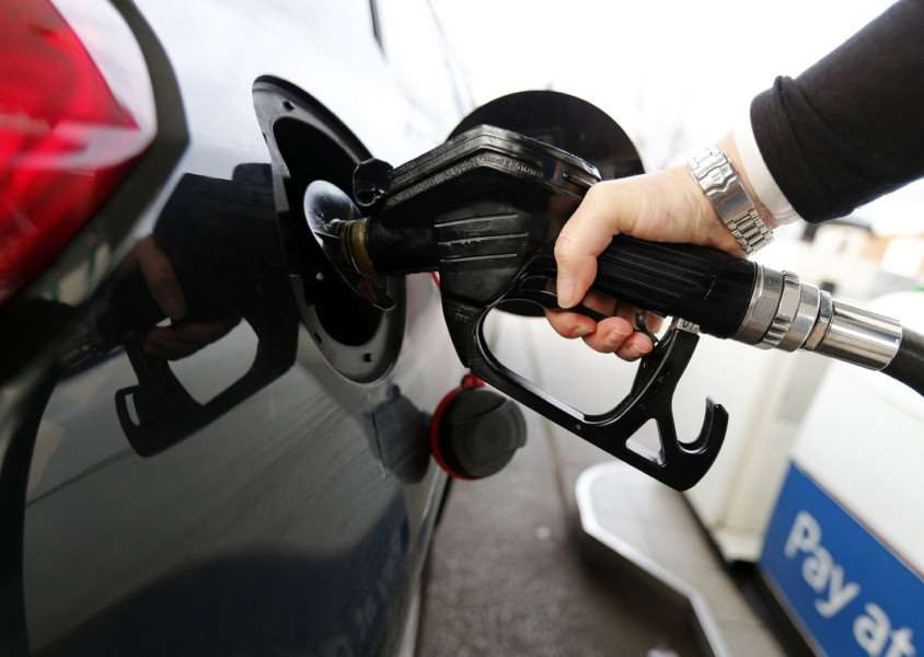 The price of fuel could fall to �1 per litre, experts say. Image: PA TRANSPORT_Fuel_133625.JPG