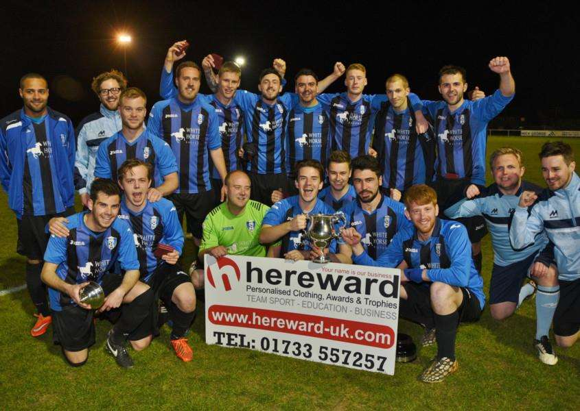 Winners of the PFA Challenge Cup Baston FC. EMN-150427-102947009