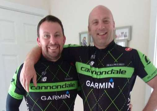 Jason Skinner and Tim Holland are planning to cycle from Bourne to Spain.