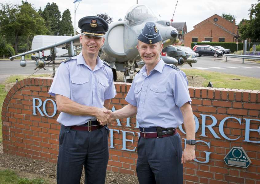 Group Captain Rich Pratley with Group Captain Tony Keeling