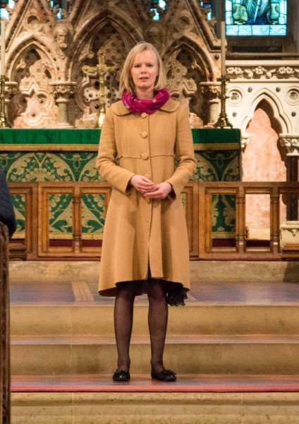 Sophie Hurst sings soprano in the parish church