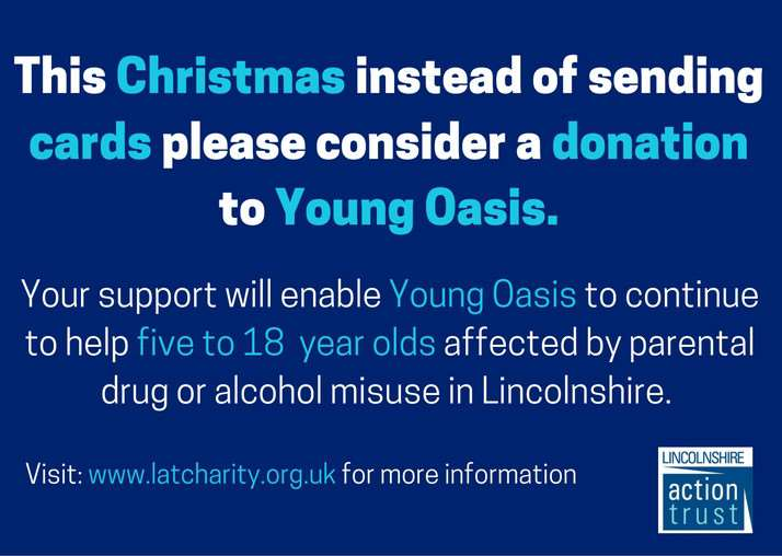 Throughout December the team at Lincolnshire Action Trust is asking people to make a donation in support of its Young Oasis programme via text using the charity's dedicated JustGiving number.