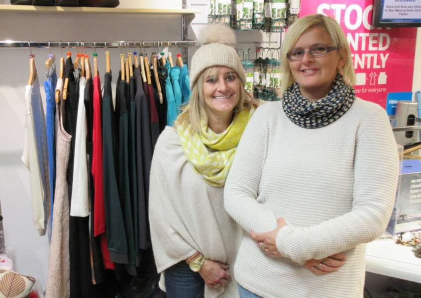 Assistant manager Tracie Mawer and shop assistant Vikki Gregory at Stamford's Age UK store EMN-161228-130929001