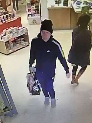CCTV footage from Waitrose in Stamford in connection to the theft of meat on November 17