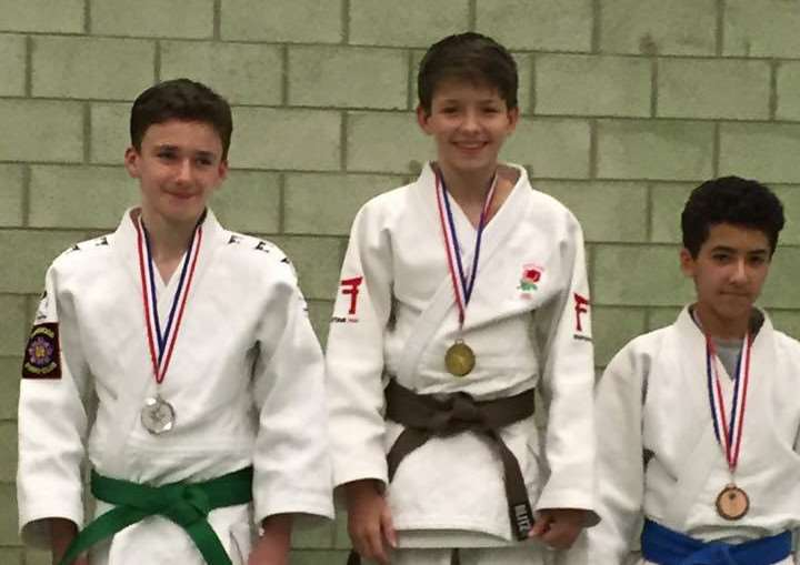 James Reseigh wins judo gold in the U18s U42kg category at the Midland Area Age Bands Competition EMN-160302-124139001