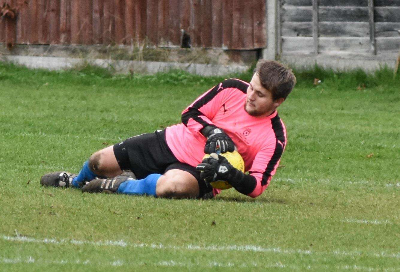 Goalkeeper James Hogg made some crucial saves in Saturday's success. (7554462)