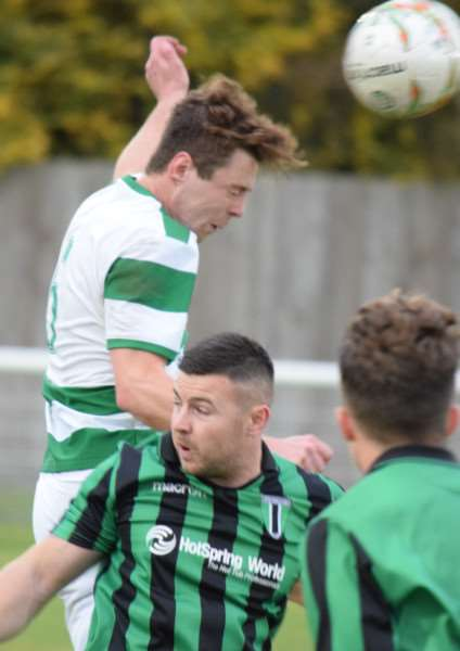 Action from Lutterworth Athletic against Blackstones. Photo: Martin Davies EMN-160211-164328001