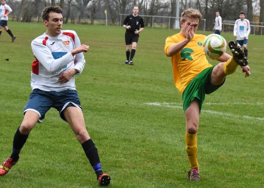 Action from Oakham United v 'Northampton ON Chenecks. Photo: Alan Walters EMN-160216-092919001