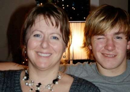 Zachary Whittall with mum Cathy in December 2013