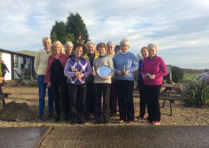 North Luffenham golf club lady members at their recent Christmas lunch, when competition winners received their prizes EMN-141229-100518001