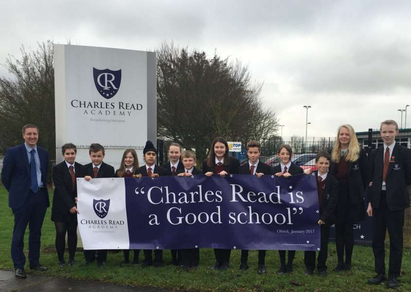 Charles Read Academy in Corby Glen has been rated 'good' by Ofsted.