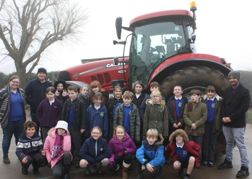 The Badgers class at Bythams Primary School learns about farming as part of their Breakfast Week.