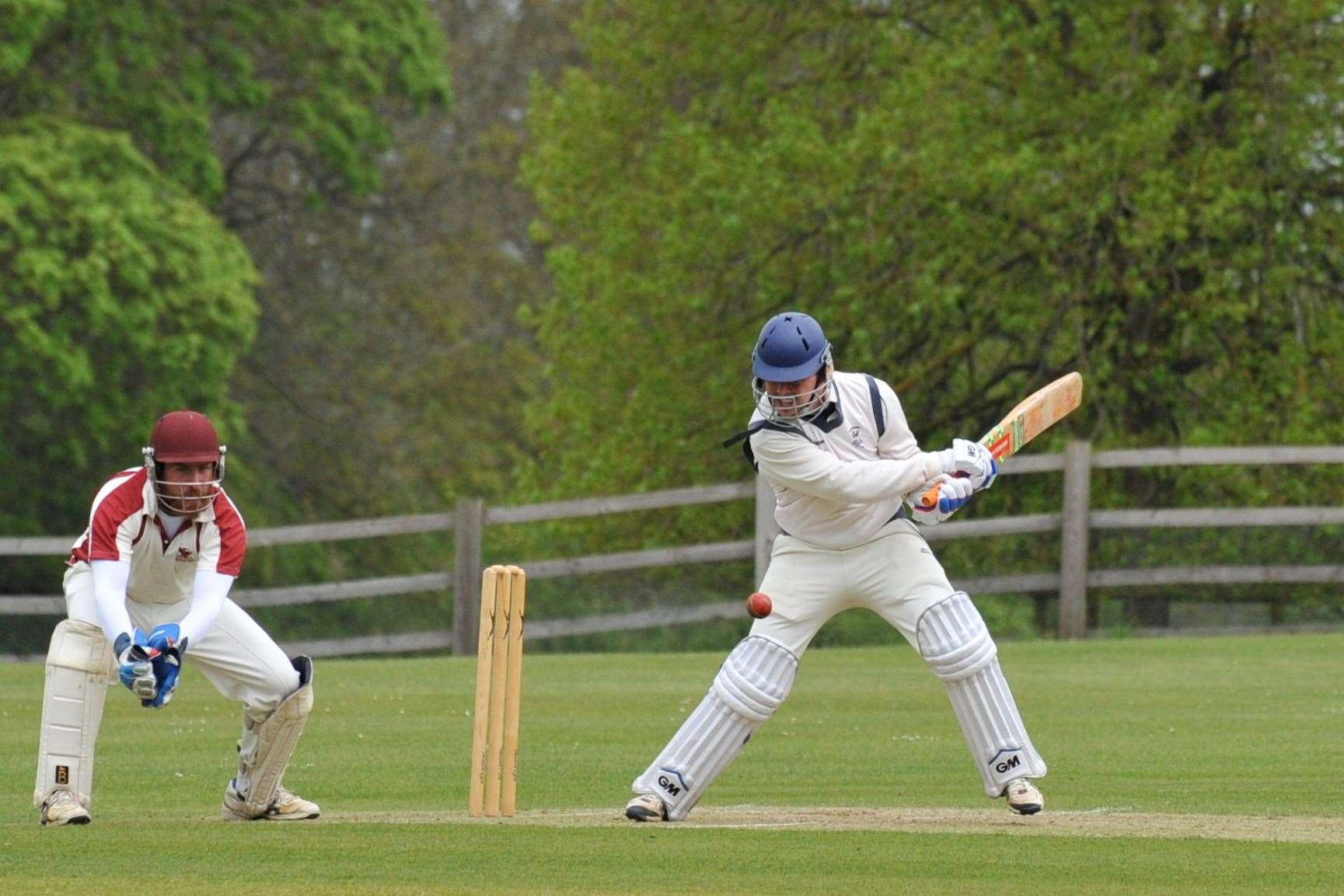 Action from Burghley Park's victory over Uppingham in Division Two. Photo: Alan Walters (9406790)