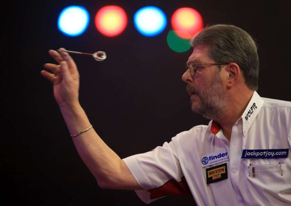 Martin Adams during the 2015 BDO Lakeside World Professional Darts Championships at the Lakeside Complex. PRESS ASSOCIATION Photo. Picture Date: Sunday January 11, 2015. See PA story DARTS World. Photo credit should read: John Walton/PA Wire. DARTS_World_181347.JPG