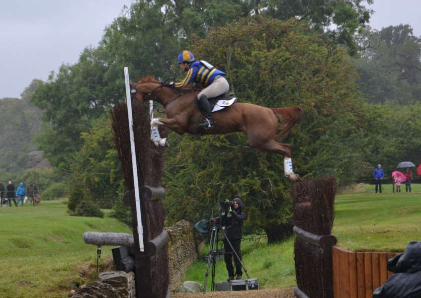 Bunny Sexton at Burghley Horse Trials
