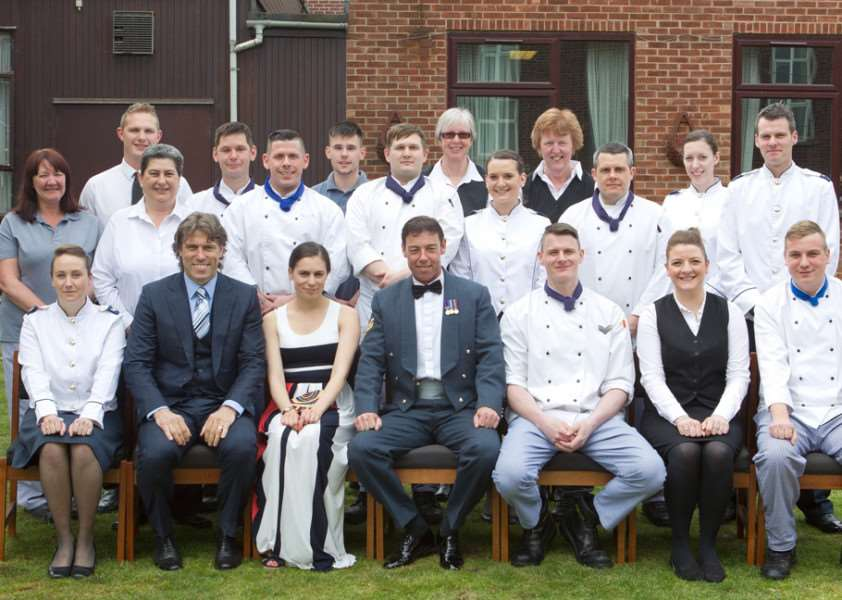 Staff from the Warrant Officers & Sergeants' Mess at RAF Wittering EMN-150513-132930001