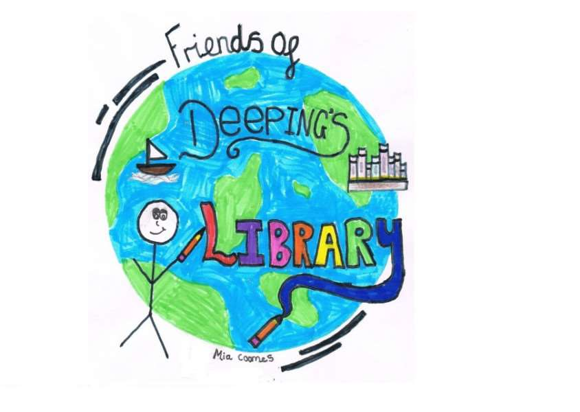 The Friends of Deepings Library logo, designed by Deeping St James Primary School pupil Mia Coomes EMN-140407-164755001