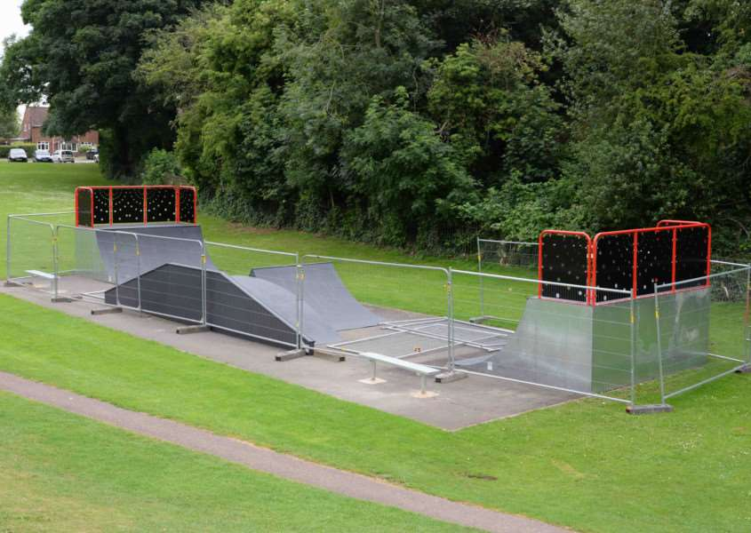 The new, unfinished skatepark in Cutts Close, Oakham, which has prompted complaints from some in the town. EMN-150714-162511001