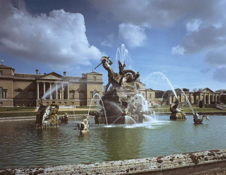 Restored fountains at Holkham Hall ANL-160413-140929001