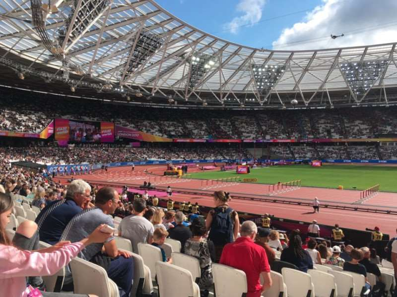 Charles Read Academy students attended the athletics World Championships at the London Stadium.
