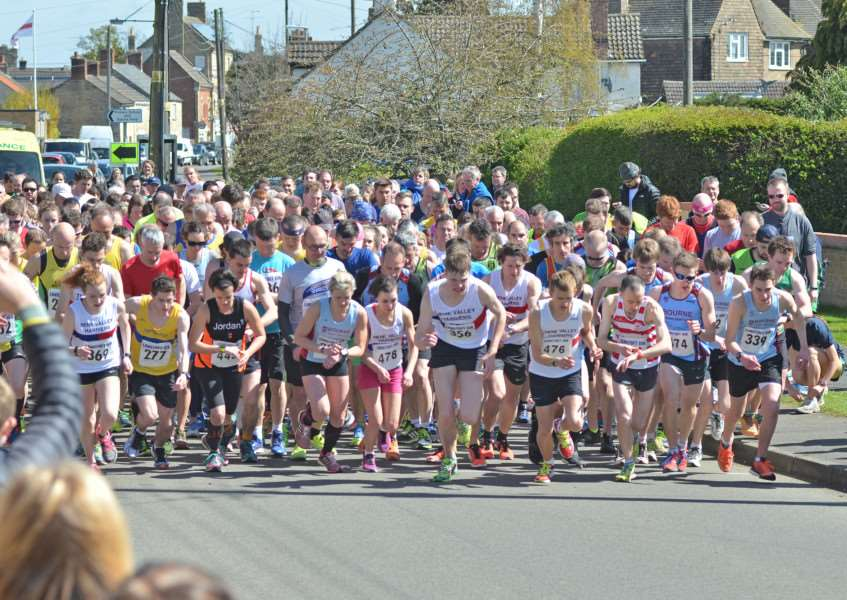 The start of the 10k last year