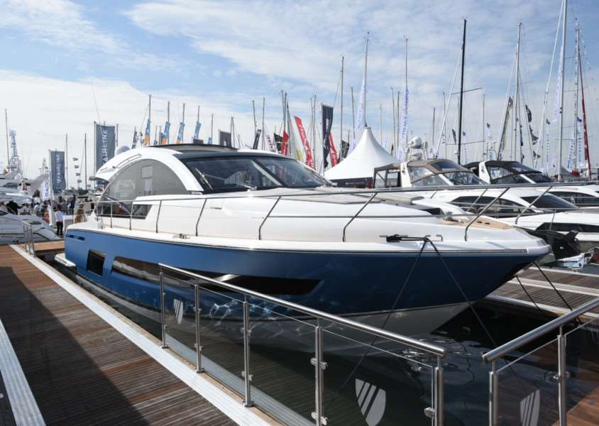 Fairline's new Targa 53GT at the Southampton Boat Show. Picture David Lowndes.
