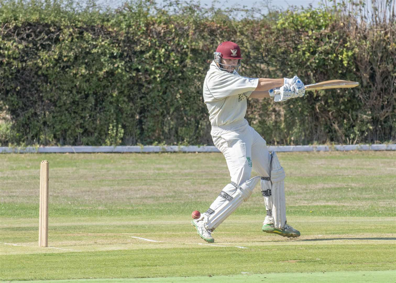 Action from Uppingham's victory at Uffington in Division Two of the Rutland League on Sunday. Photo: LEE HELLWING (3931509)