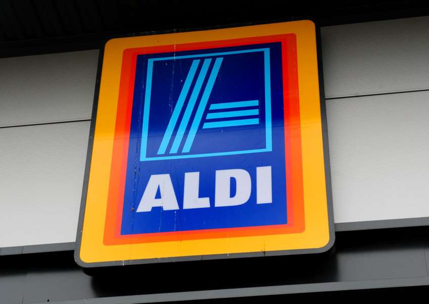 Aldi supermarket logo, as the discount retailer has reported a fall in profits as the supermarket price war took its toll on earnings despite sales surging to a new record level. Photo: Rui Vieira/PA Wire