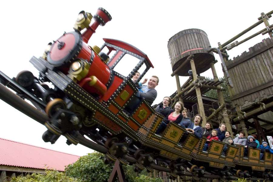 The runaway mine train ride at Alton Towers. Pic credit Alton Towers