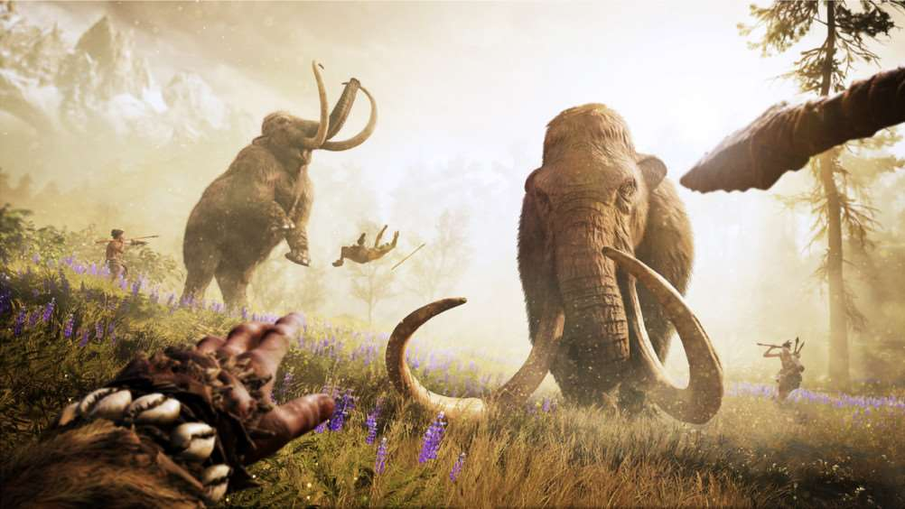 Anyone fancy a mammoth hunt? Far Cry Primal is out later this month