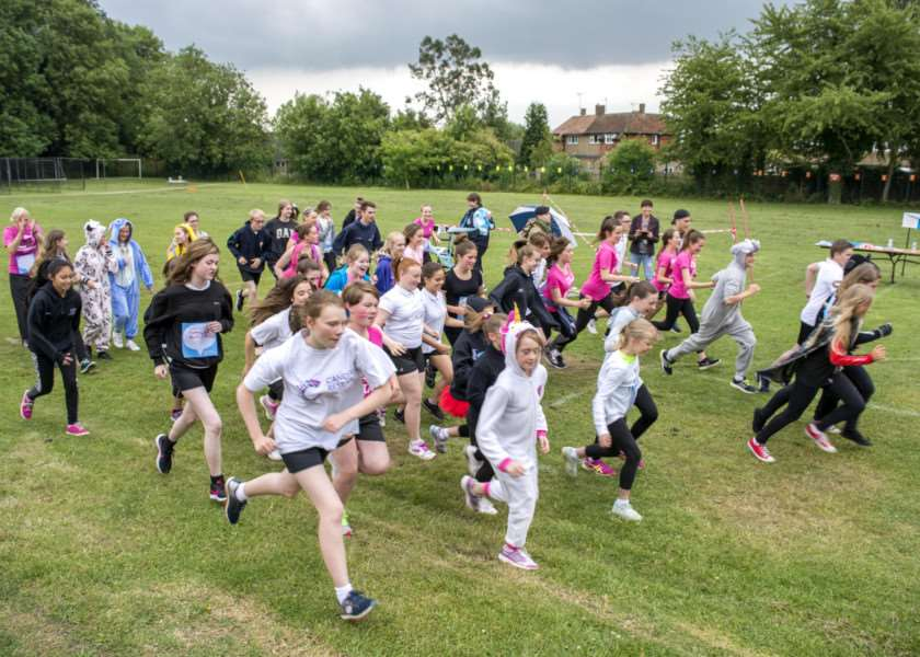 Bourne Academy Race for Life event