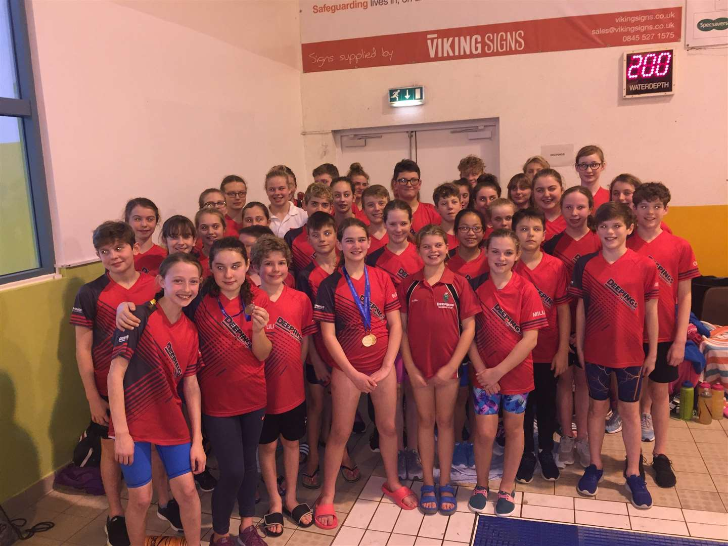 The victorious Deepings Swimming Club squad at the Boston Open Meet. (5691198)
