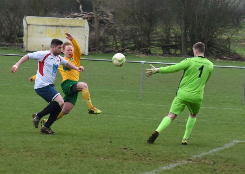 Action from Oakham United v 'Northampton ON Chenecks. Photo: Alan Walters EMN-160216-092729001
