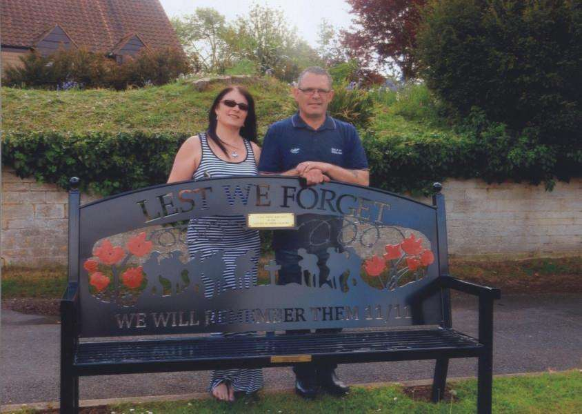 Chris and Michelle Kennedy have been making memorial benches for two years.