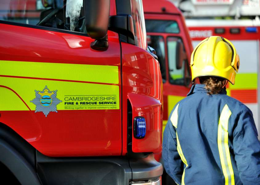 Fire crews. Photo: Cambridgeshire Fire and Rescue Service