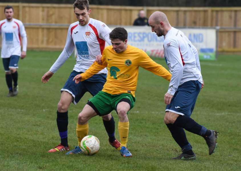 Action from Oakham United v 'Northampton ON Chenecks. Photo: Alan Walters EMN-160216-092908001