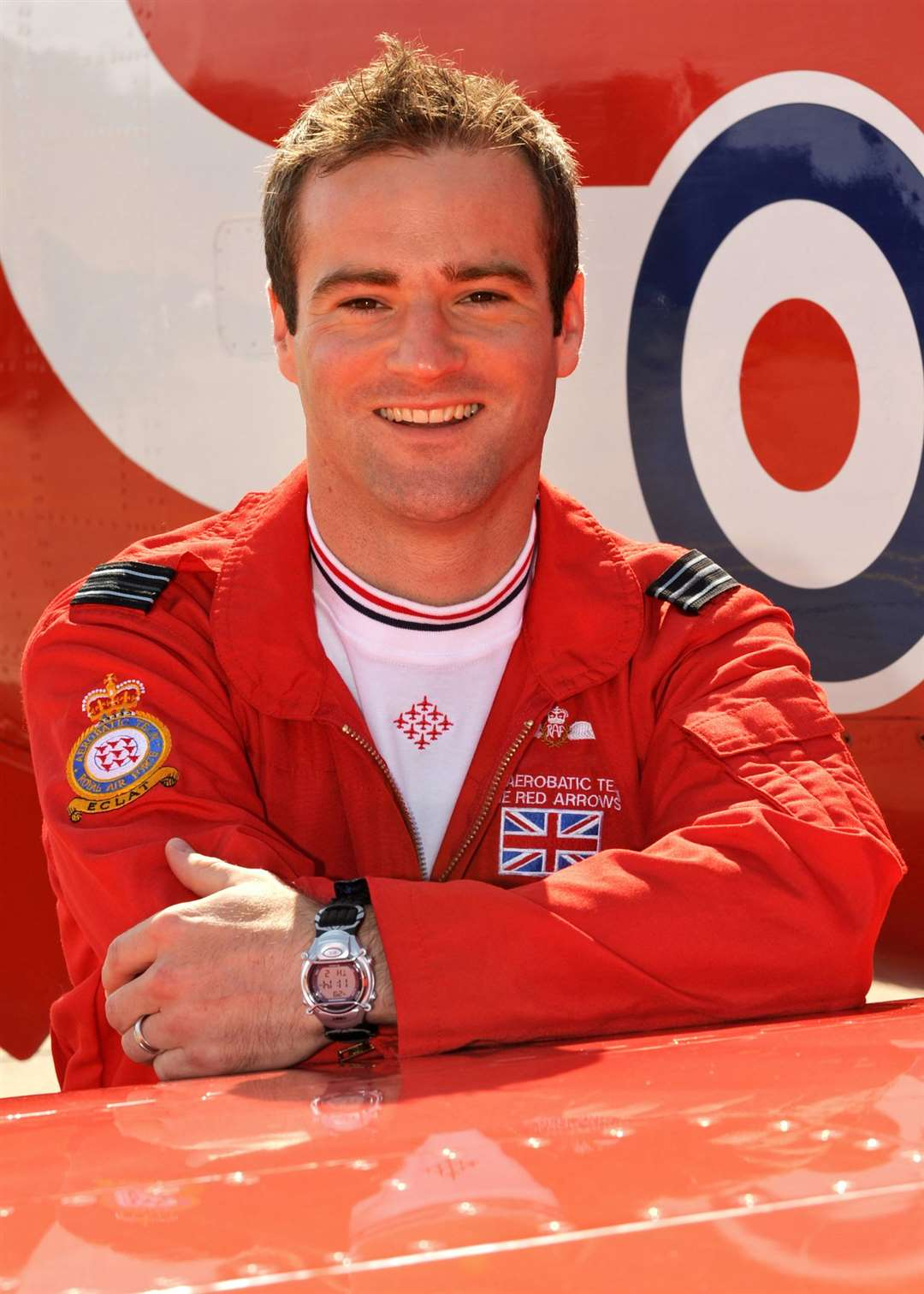 Flt Lt Jon Egging died in an accident at the Bournemouth Airshow in 2011. Photo: Cpl Graham Taylor (RAF)