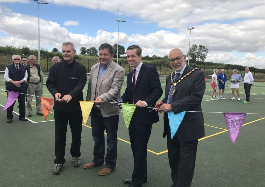 The official opening of hardcourts at KC Active. Submitted.