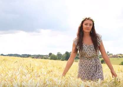 A scene from Chloe Jardine-Price's video which won her the 'talent' section at the 2015 Miss Great Britain finals - it was shot in Scalford EMN-150915-155554002