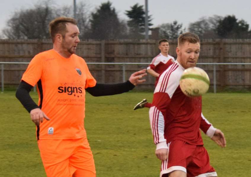Lee Clarke in action for Blackstones against Melton on Saturday.
