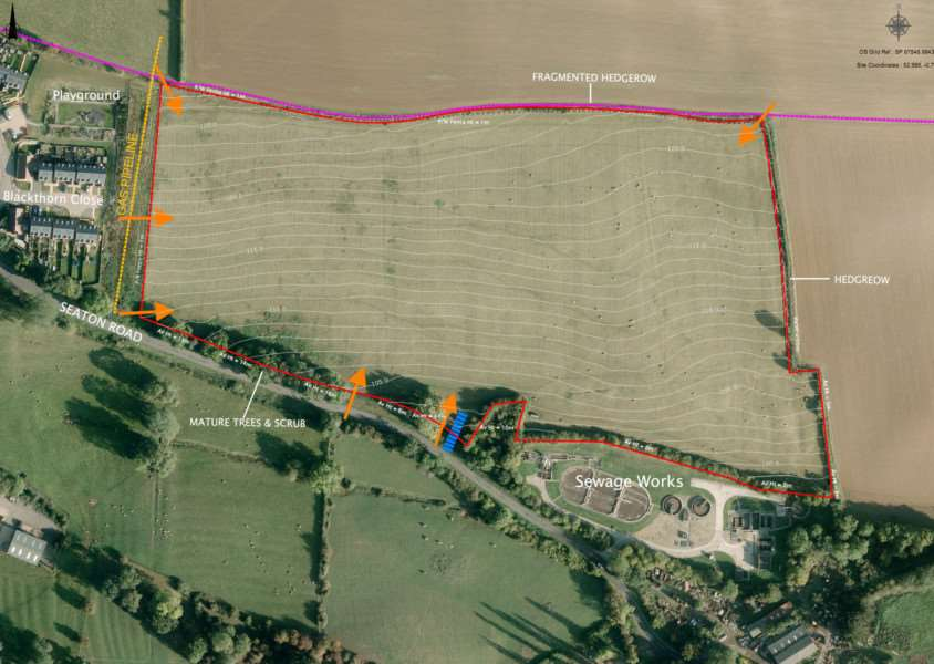 Plans for a solar farm off Seaton Road, Uppingham, by Sirius SBC Renewables LLP. EMN-150826-161820001
