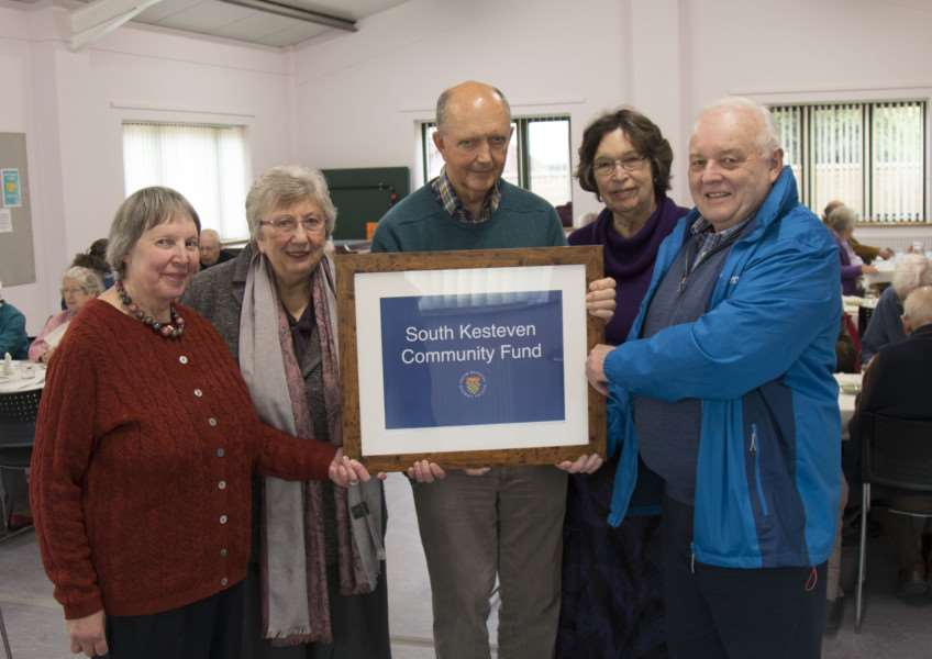 Celebrating improvements at Thurlby Methodist church hall in the attached image are left to right volunteer Ann Grimes, Chairman of SKDC Cllr Judy Smith, Thurlby Methodist Church Treasurer Chris Stevenson, volunteer Eileen Fitche and Cllr Barry Dobson.