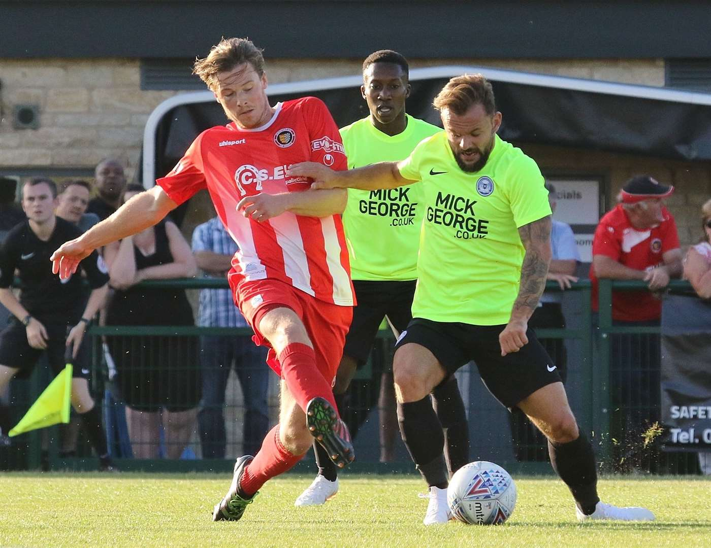Stamford went down to a 5-1 home defeat against Peterborough United in last season's pre-season friendly at the Zeeco Stadium. (11057091)