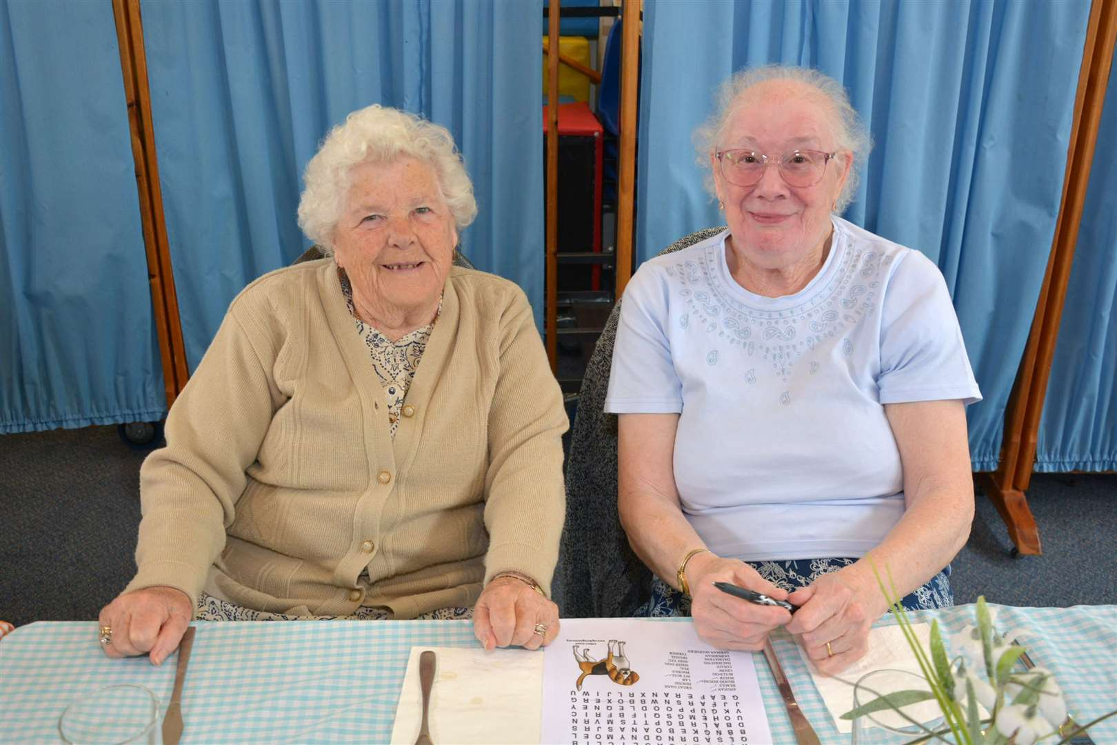 Church Church Day Centre visitors Joyce Veal and Margaret Young