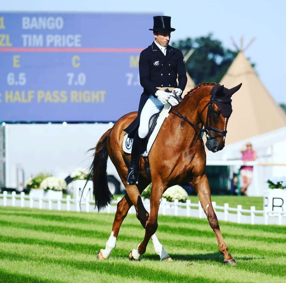 Tim Price riding Bango during the dressage stage last year (16155014)