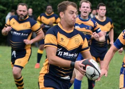 POTENTIAL MATCHWINNER: Bourne full back and place kicker Jack Berry can handle the pressure of a South Kesteven rugby derby. Photo by Alan Hancock.