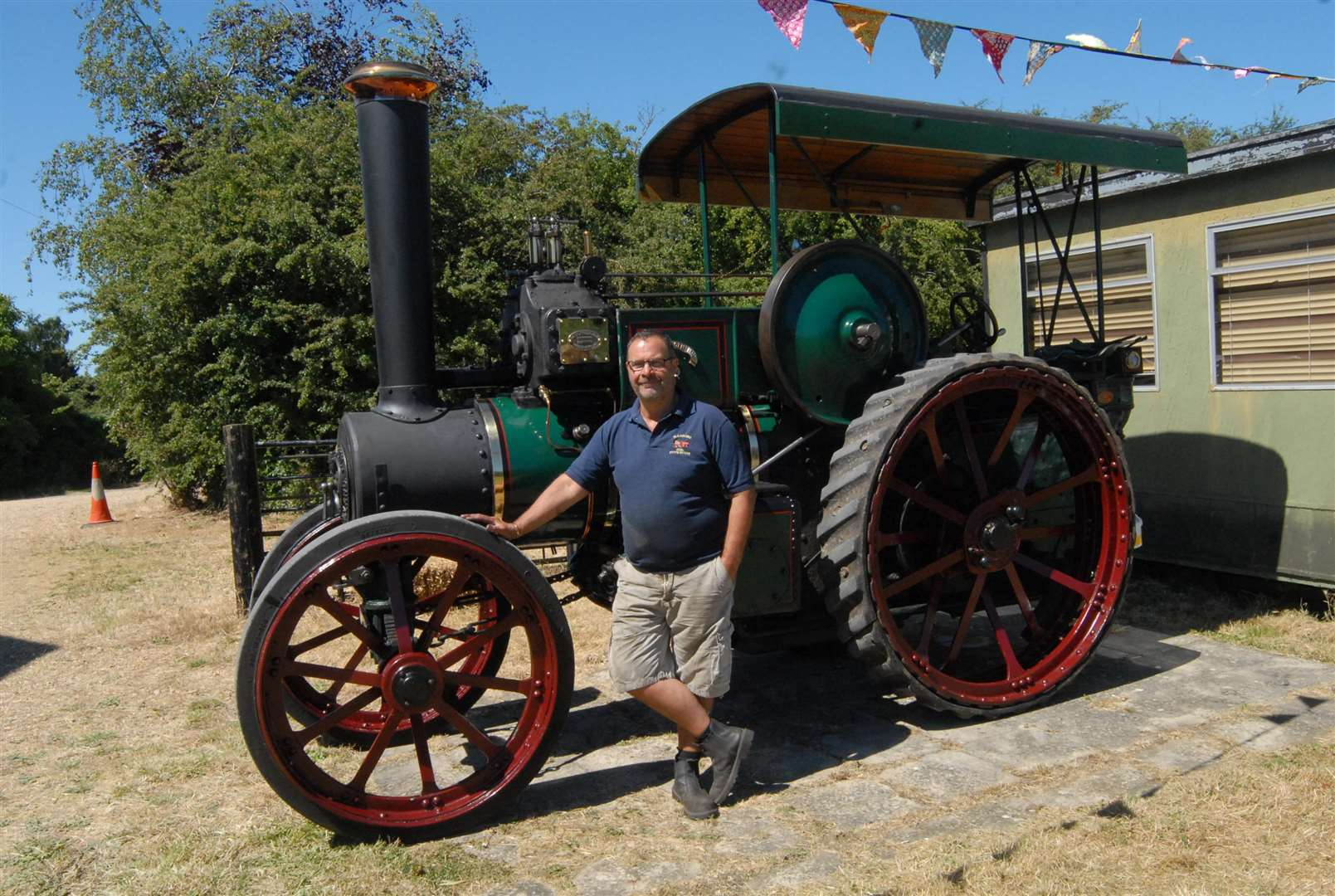 Andrew Holmes with his 1918 Ruston and Proctor steam engine