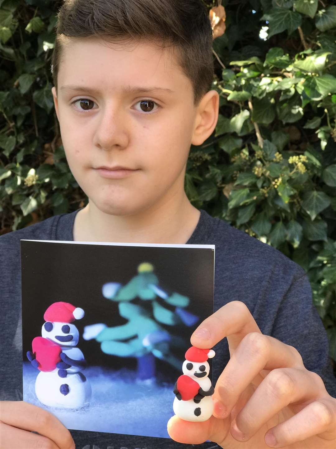 Luke Adams, 13, won a Christmas card competition organised by the beat SCAD charity based at Melton Mowbray (5135866)