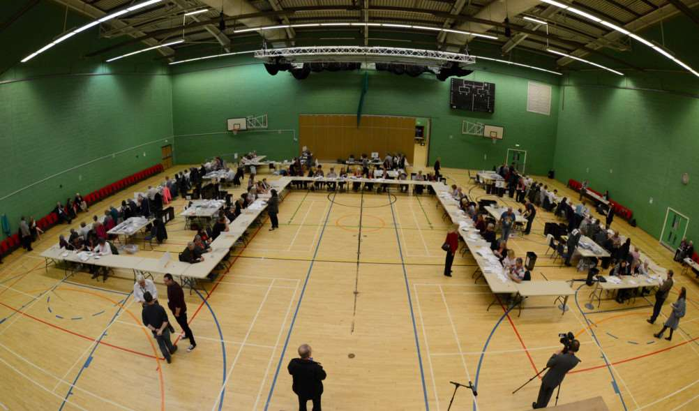 The count at the Meres leisure centre.