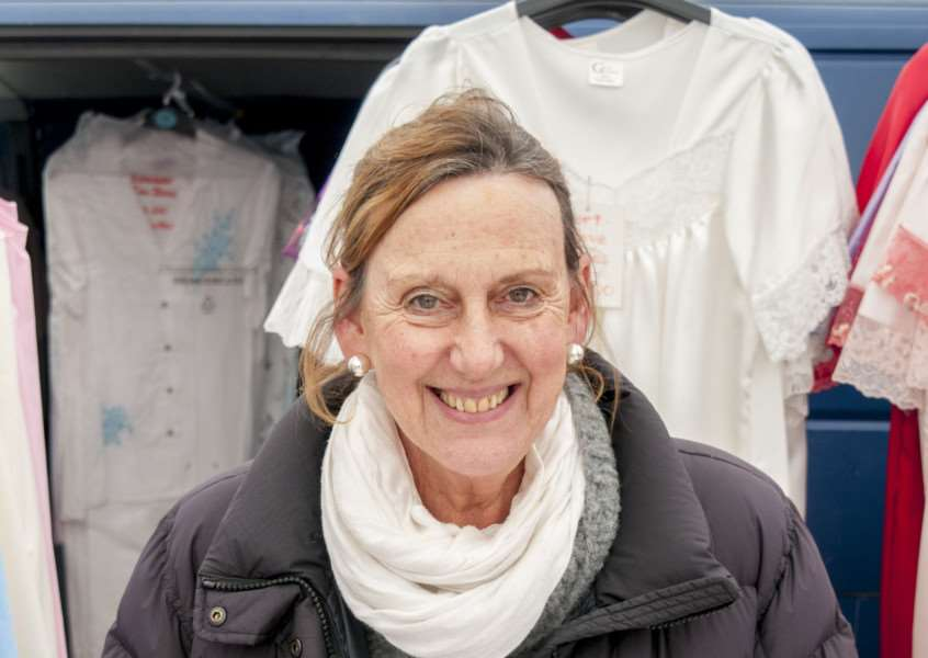 Kyra Cullumbine's last day on the Stamford Market'Photo: Lee Hellwing